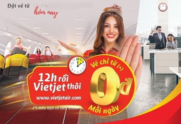 Hot Sale đầu năm: Vietjet tưng bừng khuyến mại giá vé chỉ từ 0 đồng