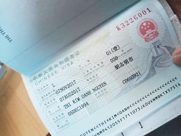 Làm visa đi Trung Quốc 2018 ở namthanh.vn