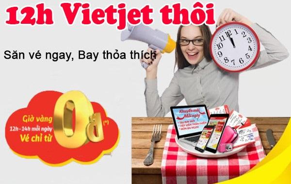 Vé máy bay giá rẻ Vietjet Airlines