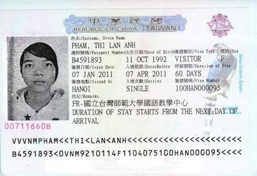 Image result for visa 60 ngày đài loan